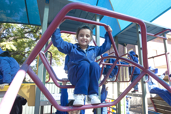 student at school's Mackillop playground